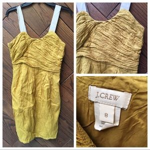 J Crew gold cotton sun dress size 8